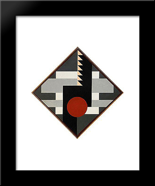 Diagonal Komposition For Tambur Ii: Modern Black Framed Art Print by Otto Gustav Carlsund