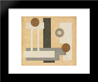 Komposition: Modern Black Framed Art Print by Otto Gustav Carlsund