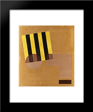 Konstruktion: Modern Black Framed Art Print by Otto Gustav Carlsund