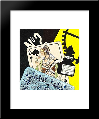 Playing Cards: Modern Black Framed Art Print by Otto Gustav Carlsund
