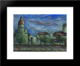 Chiesa Del Cestello: Modern Black Framed Art Print by Ottone Rosai