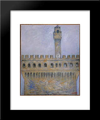 Palazzo Vecchio: Modern Black Framed Art Print by Ottone Rosai