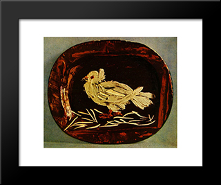 Pigeon: Custom Black Or Gold Ornate Gallery Style Framed Art Print by Pablo Picasso