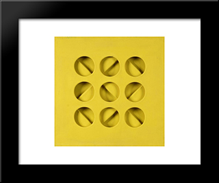Intersuperficie Curva - Dal Giallo: Modern Black Framed Art Print by Paolo Scheggi