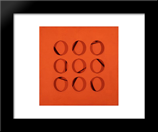 Intersuperficie Curva Rossa: Modern Black Framed Art Print by Paolo Scheggi