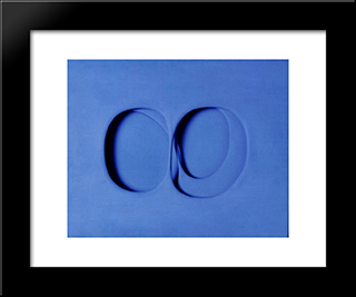 Volumi (Blu): Modern Black Framed Art Print by Paolo Scheggi