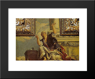 Arachne(Dialects): Modern Black Framed Art Print by Paolo Veronese