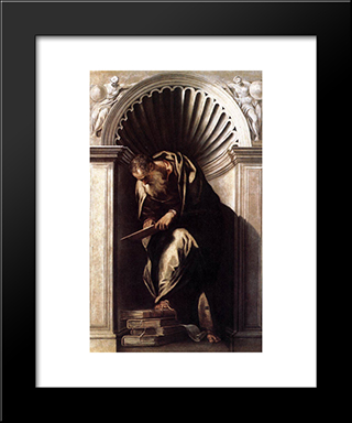 Aristotle: Modern Black Framed Art Print by Paolo Veronese