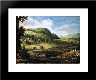 An Extensive Landscape: Modern Black Framed Art Print by Paul Bril