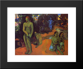 Delectable Waters: Modern Black Framed Art Print by Paul Gauguin