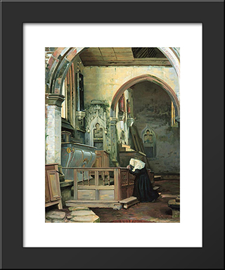 Devotion: Modern Black Framed Art Print by Paul Peel