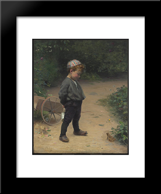The Young Biologist: Modern Black Framed Art Print by Paul Peel