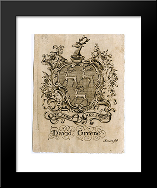 David Greene Bookplate: Modern Black Framed Art Print by Paul Revere