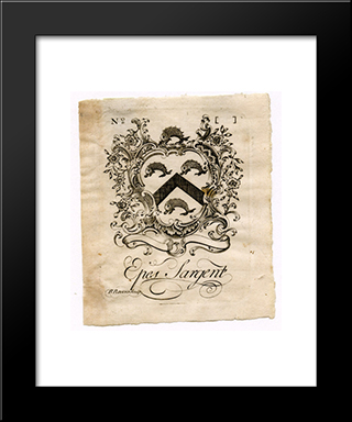 Epes Sargent Bookplate: Modern Black Framed Art Print by Paul Revere