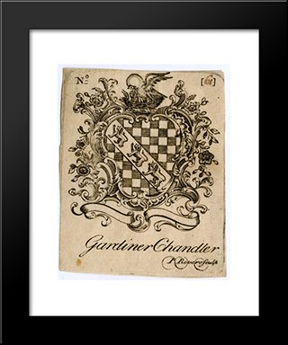 Gardiner Chandler Bookplate: Modern Black Framed Art Print by Paul Revere