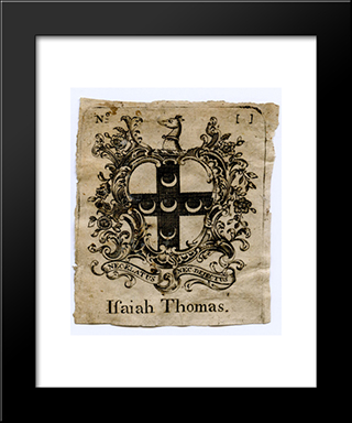 Isaiah Thomas Bookplate: Modern Black Framed Art Print by Paul Revere