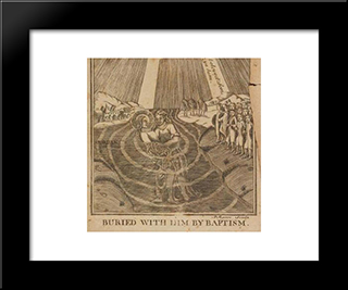 Jesus In The Jordan River With John The Baptist: Modern Black Framed Art Print by Paul Revere