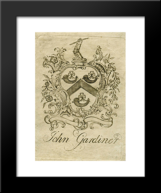 John Gardiner Bookplate: Modern Black Framed Art Print by Paul Revere