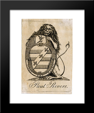 Paul Revere Bookplate: Modern Black Framed Art Print by Paul Revere