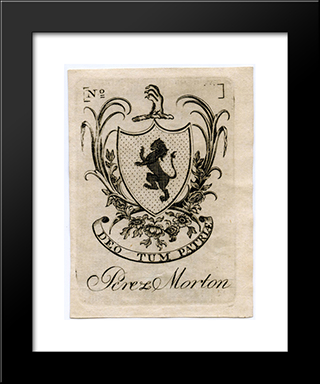 Perez Morton Bookplate: Modern Black Framed Art Print by Paul Revere
