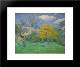 Breton Woman Going To The Washing Place: Modern Black Framed Art Print by Paul Serusier