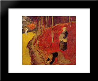 The Fern Harvesters In The Boid D'Amour At Pont Aven: Modern Black Framed Art Print by Paul Serusier