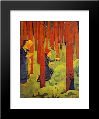 The Incantation (The Holy Wood): Modern Black Framed Art Print by Paul Serusier