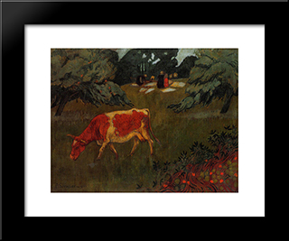 The Wash In A Large Meadow: Modern Black Framed Art Print by Paul Serusier