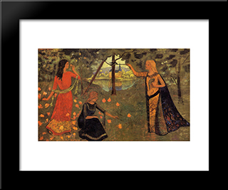 The Youth Of Queen Anne: Modern Black Framed Art Print by Paul Serusier