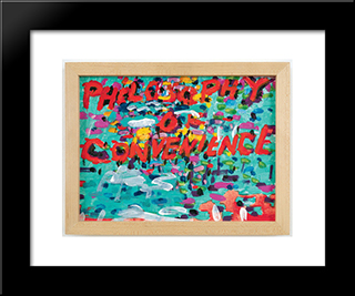 Philosophy Of Convenience: Modern Black Framed Art Print by Paul Thek