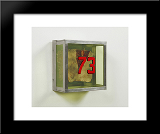 Untitled #73 (From The Series Technological Reliquaries): Modern Black Framed Art Print by Paul Thek