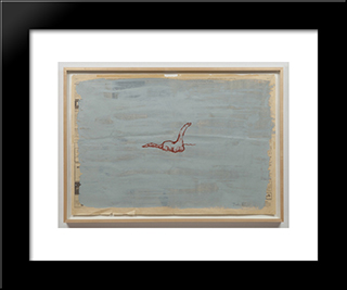 Untitled (Dinosaur): Modern Black Framed Art Print by Paul Thek