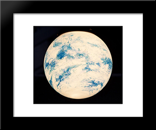 Untitled (Globe): Modern Black Framed Art Print by Paul Thek