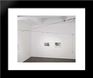 Untitled (Meat Cables): Modern Black Framed Art Print by Paul Thek
