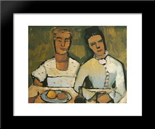 Lee And His Sister Hoetger: Modern Black Framed Art Print by Paula Modersohn Becker