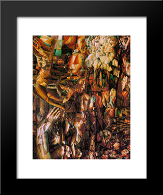 A Couple: Modern Black Framed Art Print by Pavel Filonov