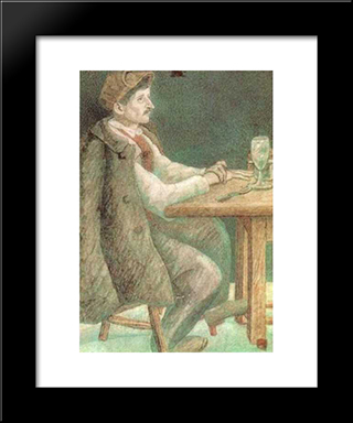 A French Worker: Modern Black Framed Art Print by Pavel Filonov