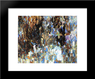A White Picture: Modern Black Framed Art Print by Pavel Filonov
