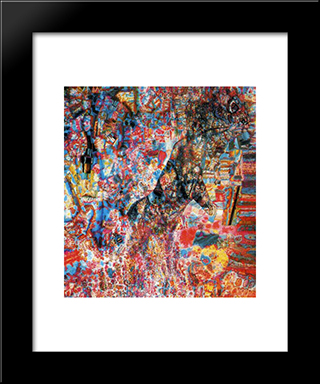 Beast (Wolf Cub): Modern Black Framed Art Print by Pavel Filonov