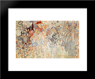 Colonial Policy: Modern Black Framed Art Print by Pavel Filonov