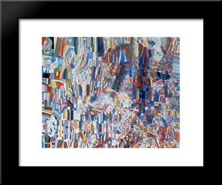 Composition: Modern Black Framed Art Print by Pavel Filonov