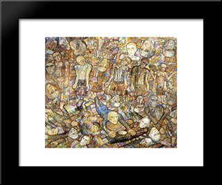 Composition (A Raid): Modern Black Framed Art Print by Pavel Filonov