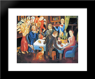 Easter: Modern Black Framed Art Print by Pavel Filonov