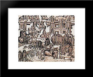 Execution (After 1905): Modern Black Framed Art Print by Pavel Filonov