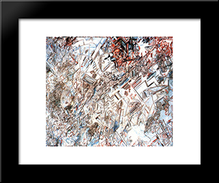 Formula Of The Revolution: Modern Black Framed Art Print by Pavel Filonov