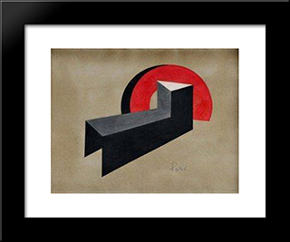 Constructivist Composition I: Modern Black Framed Art Print by Peter Laszlo Peri