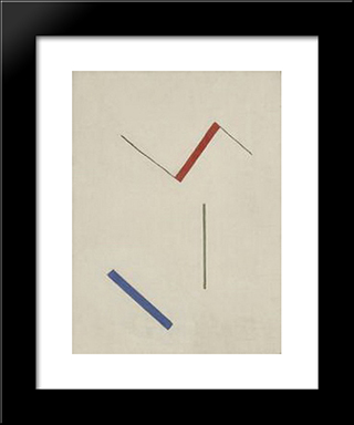 Geometric Composition: Modern Black Framed Art Print by Peter Laszlo Peri