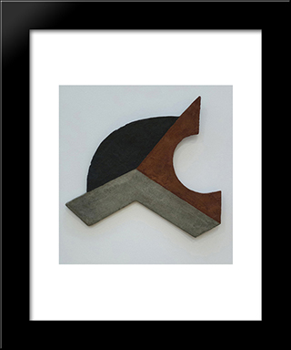 Space Construction 10: Modern Black Framed Art Print by Peter Laszlo Peri
