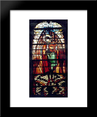 Archangel Gabriel (Church Of The Assumption Of The Blessed Virgin Mary: Modern Black Framed Art Print by Petro Kholodny (Elder)