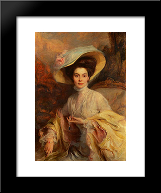 Crown Princess Cecilie Of Prussia: Modern Black Framed Art Print by Philip de Laszlo